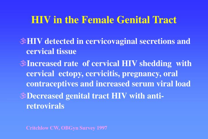 HIV in the Female Genital Tract