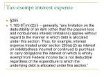tax exempt interest expense