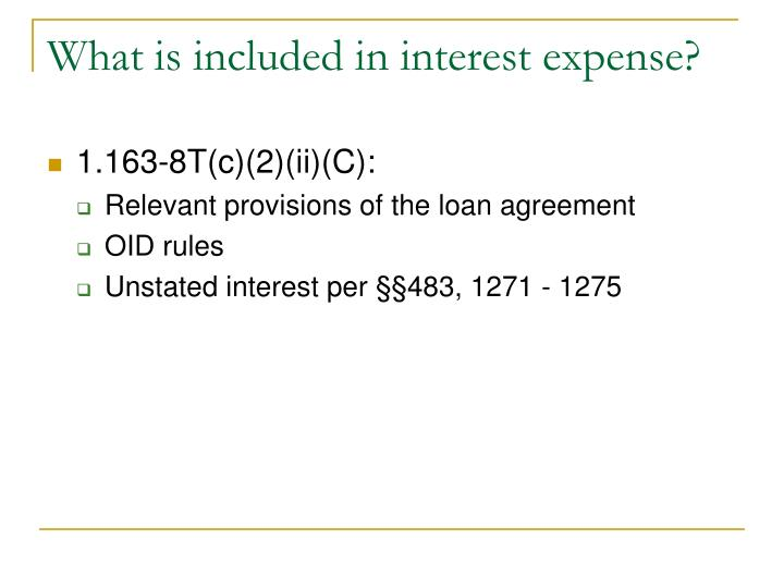 What is included in interest expense?