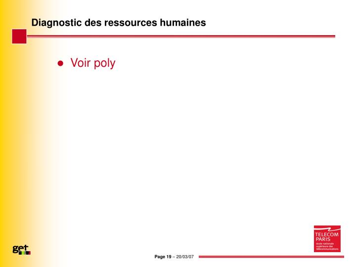 Diagnostic des ressources humaines