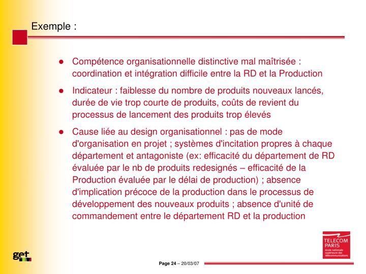 Exemple :