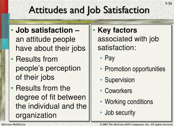 Job satisfaction –
