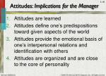 attitudes implications for the manager