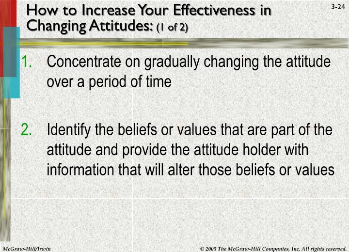 How to Increase Your Effectiveness in Changing Attitudes: