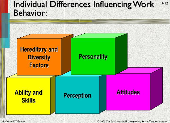 Individual Differences Influencing Work Behavior: