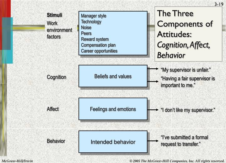 The Three Components of Attitudes: