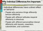 why individual differences are important 1 of 2