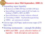 measures since mid september 2008 1