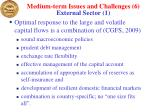 medium term issues and challenges 6 external sector 1