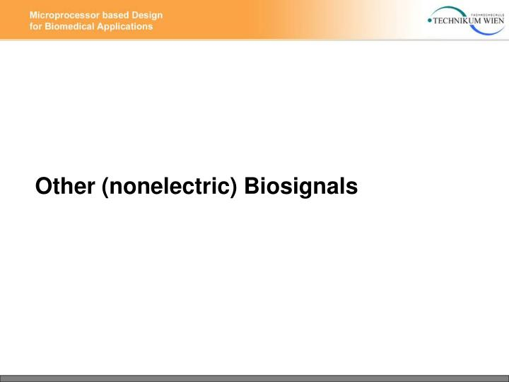 Other (nonelectric) Biosignals