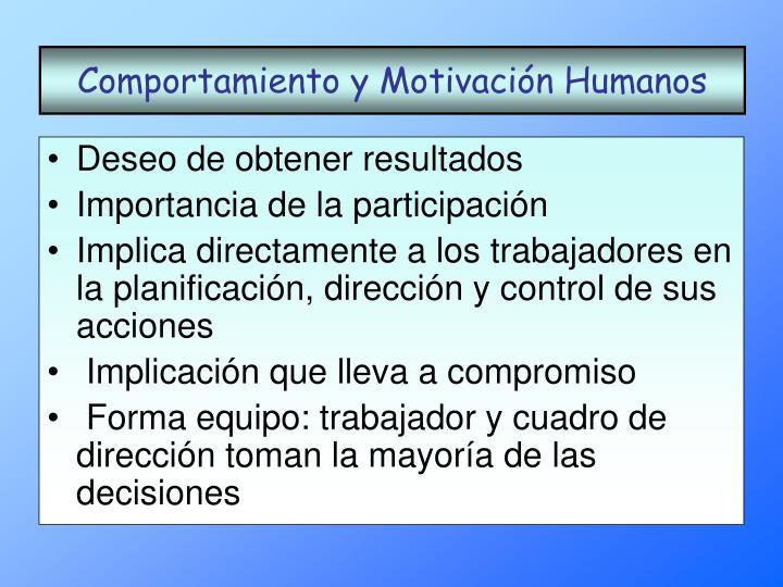 Comportamiento y Motivación Humanos