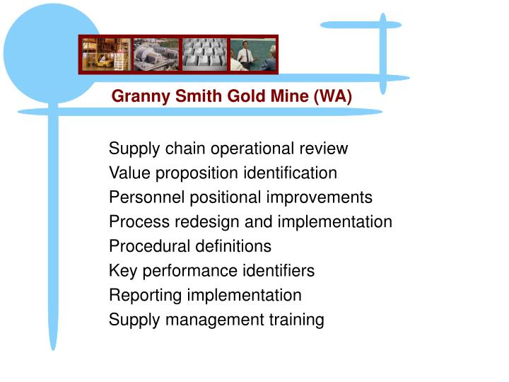 Supply chain operational review