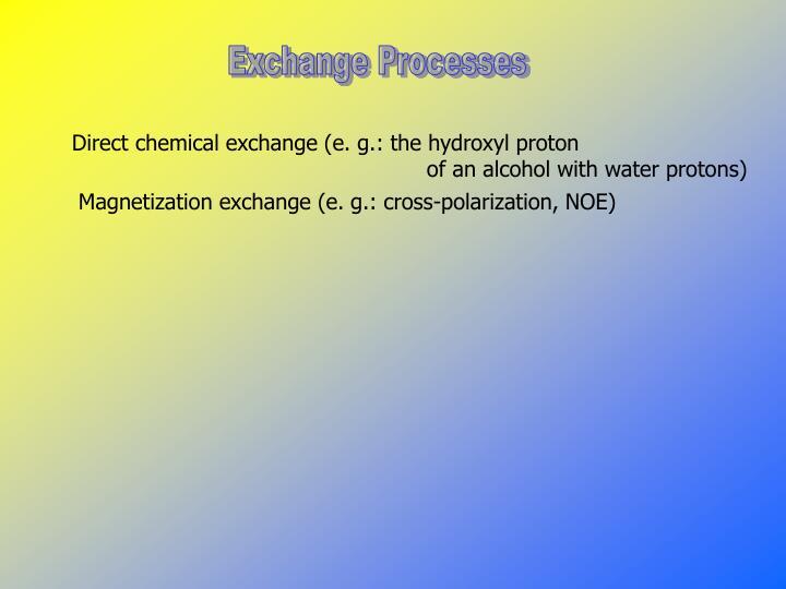 Exchange Processes