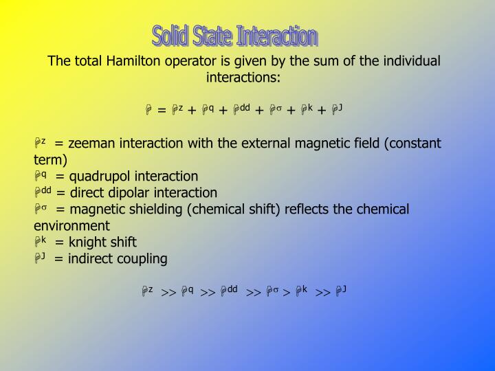 Solid State Interaction