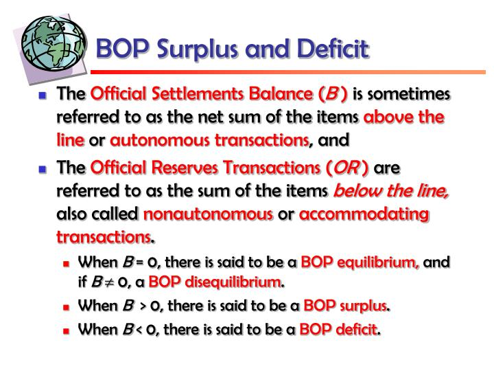 BOP Surplus and Deficit
