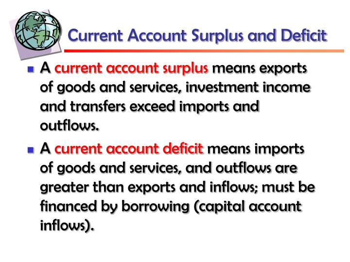 Current Account Surplus and Deficit