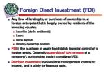 foreign direct investment fdi