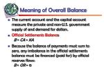 meaning of overall balance
