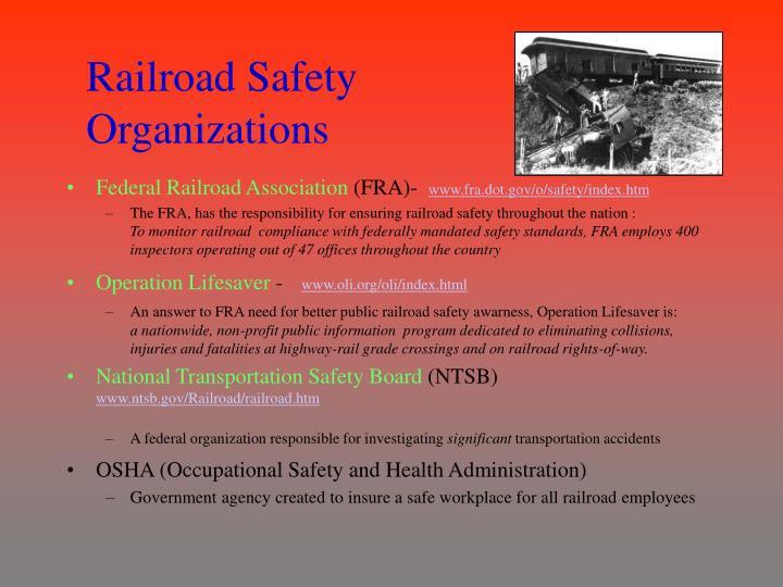 Railroad Safety Organizations