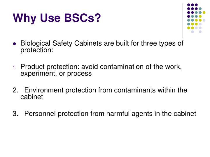 Why use bscs