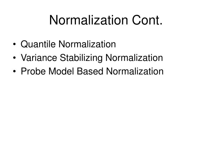 Normalization Cont.