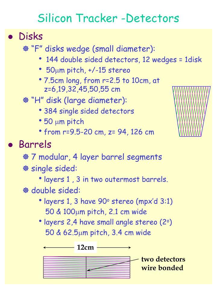 Silicon Tracker -Detectors