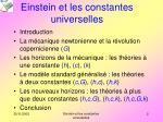 einstein et les constantes universelles1