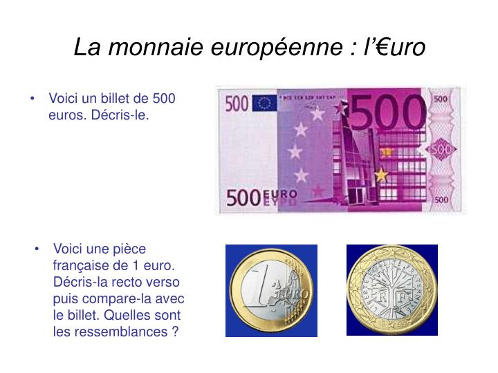 La monnaie européenne : l'€uro