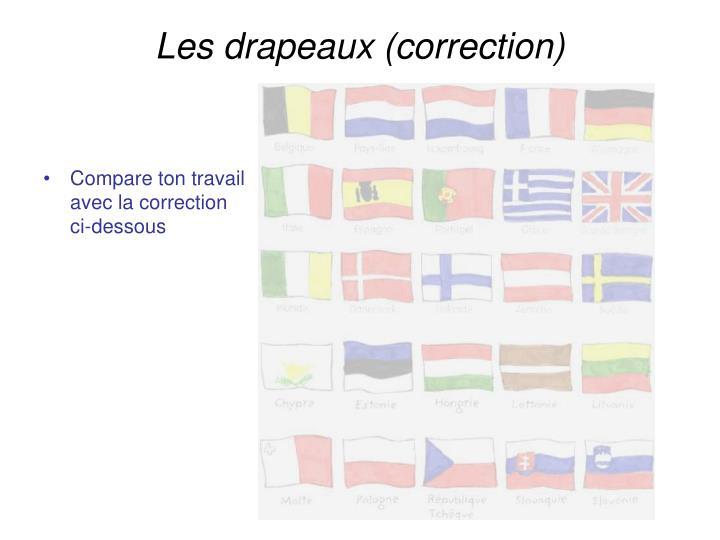 Les drapeaux (correction)