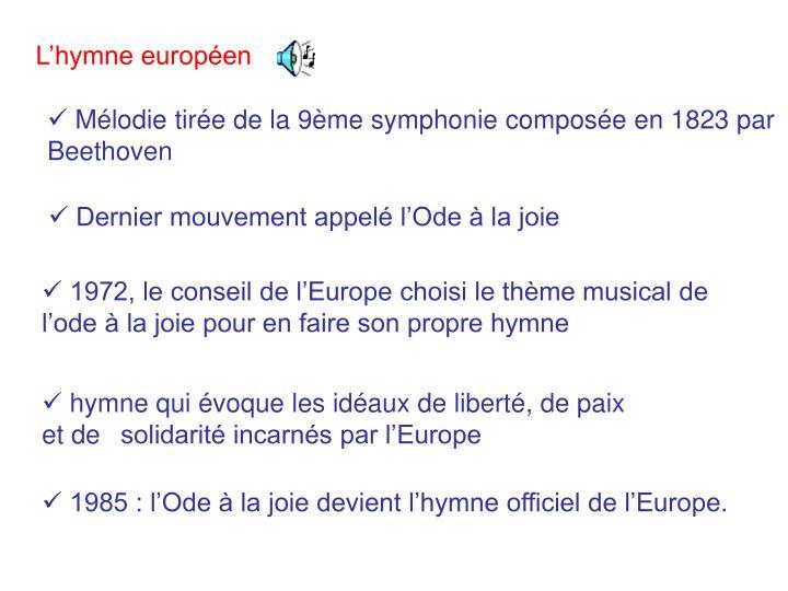 L'hymne européen
