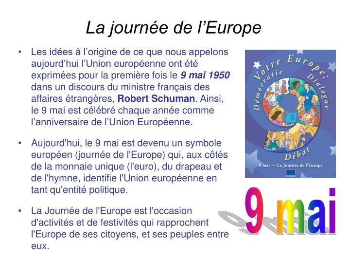 La journée de l'Europe