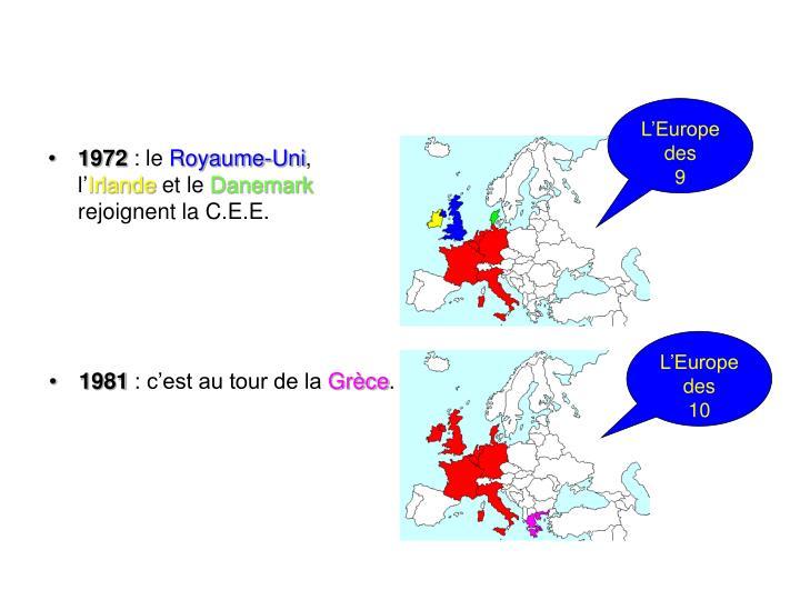 L'Europe des