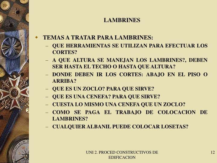 LAMBRINES