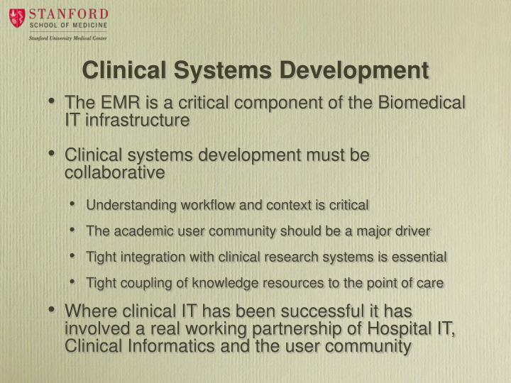 Clinical Systems Development