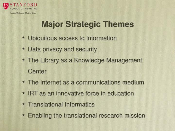 Major Strategic Themes