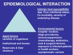 epidemiological interaction