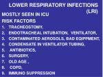 lower respiratory infections lri
