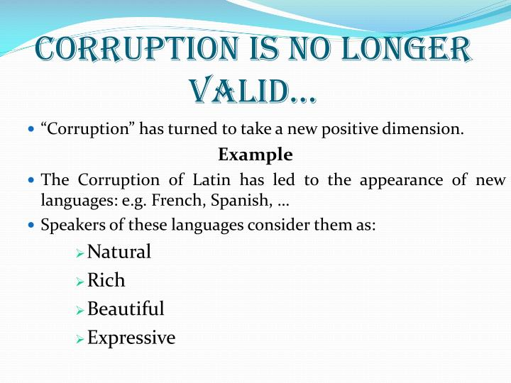 Corruption is no longer valid…