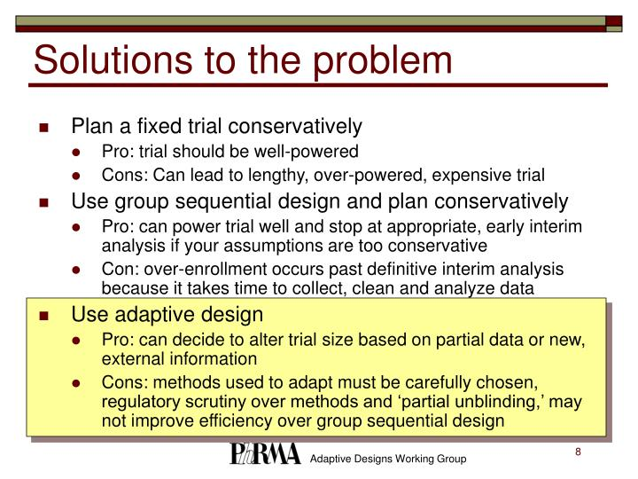 Solutions to the problem