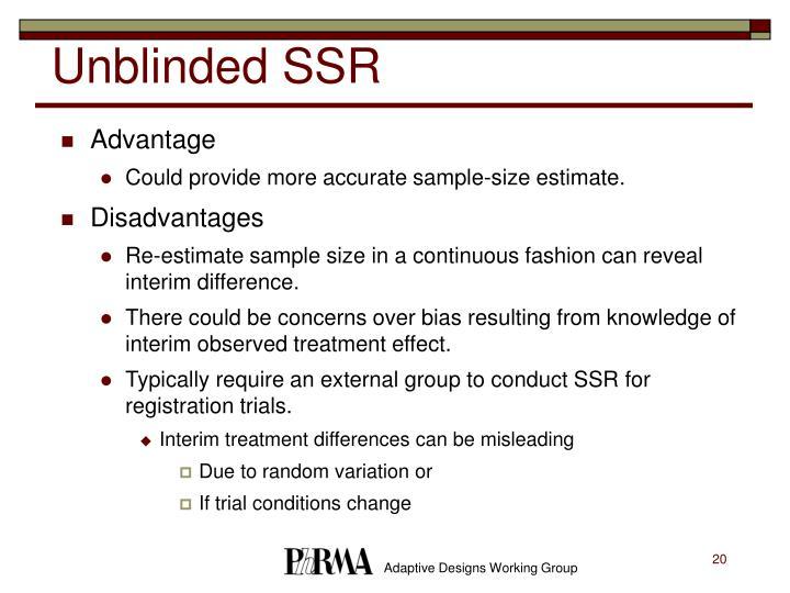 Unblinded SSR