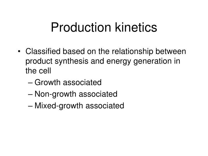 Production kinetics