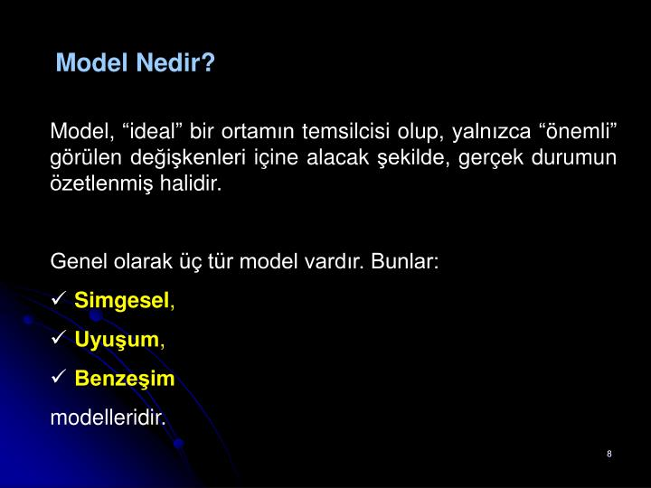 Model Nedir?