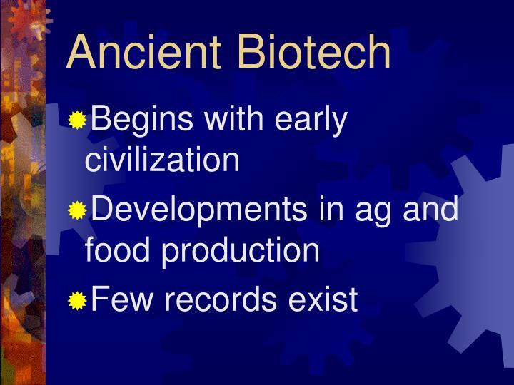 Ancient Biotech