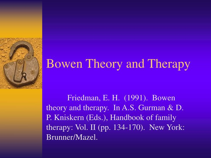 bowen theories The bowen family theory and its uses c margaret hall international  psychotherapy institute.