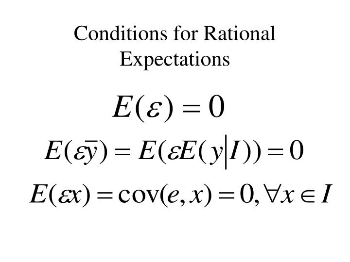 Conditions for Rational Expectations
