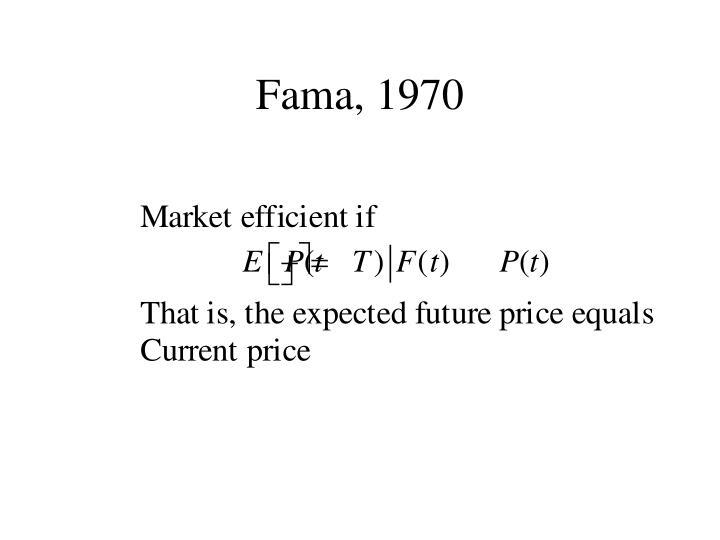 Fama, 1970