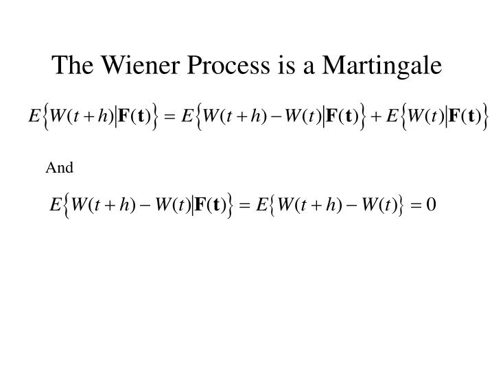 The Wiener Process is a Martingale