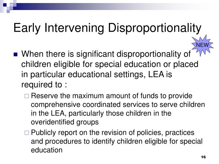 Early Intervening Disproportionality