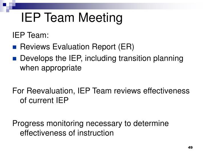 IEP Team Meeting