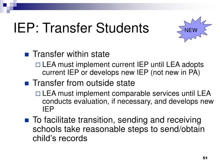 IEP: Transfer Students